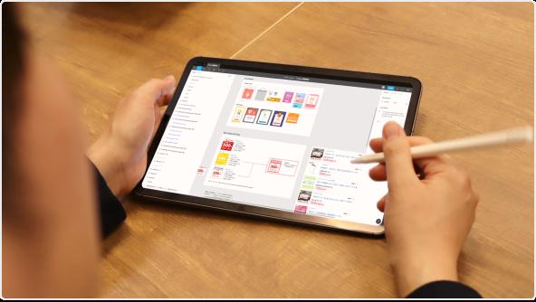 愛用のiPad ProでFigmaのアウトプットをさらさら見せてくれる田中さん